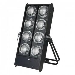 BLINDER 8 lampes NOIR 8x750w